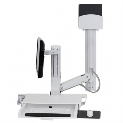 商品画像:SV Combo System with Worksurface and Pan、Small CPU Holder、White 45-594-216
