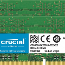 <crucial>32GB Kit(16GBx2)DDR4 3200 MT/s(PC4-25600)CL22 DR x8 SODIMM 260pin CT2K16G4SFD832A